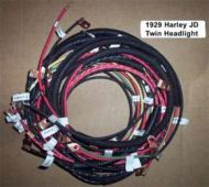 1929 Harley JD Twin Headlight wiring harness