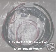 1950 to 1953 D1 Lucas Coil ignition wiring harness