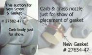 27582-47 Throttle piston guide screw & nozzle gasket 27654-47