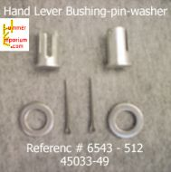 2 Hand Lever Bushings-2 Cotter pins-2 washers
