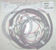 Indian Chief 1944 to 1947 wiring harness