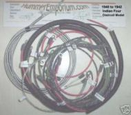 Indian Four 1940 to 1942 Dist/coil wire harness