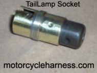 Tail lamp socket complete replacement 1923 to 1938